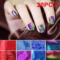 Lots 20PCS Foils Finger Nail Art Sticker Decals DIY Transfer Stickers Tips Decor