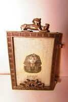 Vintage pharaonic metal frame carved with lotus flower and distinct pharaonic