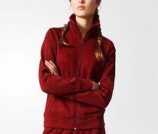 Adidas Originals Firebird Track top Jacket Womens 8 Burgundy trefoil 3 stripes