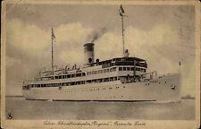Seefahrt Schiffe Schiffspost 1928 Salon-Schnelldampfer RUGARD Sassnitz-Linie