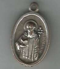 Religious Christianity Medal San Benito Abad & Coat Of Arms