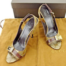Gucci pumps heel GG Beige  Woman Authentic Used T5494
