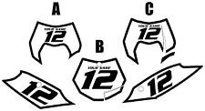 2013 KTM 200XC-W Custom Pre-Printed White Backgrounds with Black Bold Pinstripe