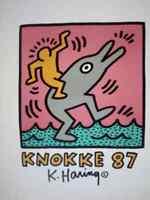Keith Haring original poster 1987 Casino in Knokke size 50,5 x 70 cm Serigrafia