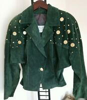 Vintage 1960s Lillie Rubin Exclusive Genuine Leather Jacket With Gold Coins