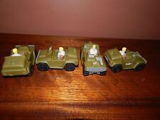G.I Joe Jeeps, 4 US Army vehicles, with 4 characters at the wheel.
