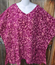"""ART TO WEAR MISSION CANYON BL 12 V NECK TUNIC IN ALL NEW CADIZ, OS+, 56""""B"""