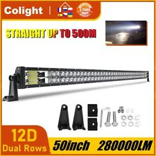 50inch 2800W LED Light Bar Flood Spot Combo Roof Driving Truck RZR SUV 4WD 52''