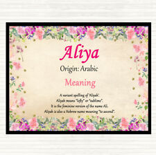 Aliya Name Meaning Mouse Mat Pad Floral
