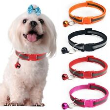 Premium Dog Collar with Small Bell Reflective Strip Safety Collar Necklace New