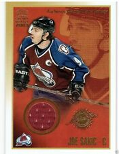 JOE SAKIC 2002-03 CROWN ROYALE GOLD JERSEY CARD #3 18/25