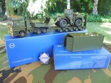 Vehicule militaire Conrad 1/50 MB 6x4 Semi-surbaissee 5 essieux & Container