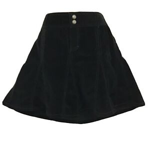 ATHLETA Whenever Cord Black A-Line Fit & Flare Corduroy Skirt Petite 4