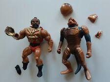 Masters of the Universe vintage Jitsu Saurod BROKEN action figures MotU Mattel