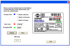 Nissan NATS 5 & 6 PIN Code Calculator for Key Programming Siemens Immobilizer