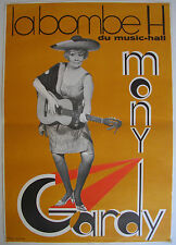 Affiche MONY GARDY - MUSIC-HALL Ann.'60-'70