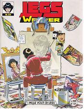 LEGS WEAVER n° 50 SPLENDIDO con CARTOLINA e con i disegni di LEO ORTOLANI