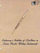 1982 Vintage Catalog #1069 - Ibex Ink Pens