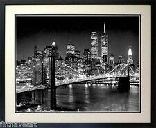 Brooklyn Bridge at Night & New York Skyline Framed  Print Framed A+ Quality