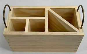Hand Made Modern Pencil Cup Holder Stand Unfinished Wood