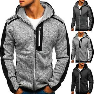 Herren Kapuzenpullover Sweatjacke Langarmshirt Pullover Zip Men BOLF 1A1 Hoodie