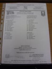 16/12/2017 Teamsheet: Solihull Moors v Tranmere Rovers [FA Trophy] (Fold). Thank