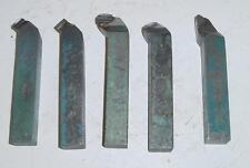 Lot de 5 barreaux de tournage à aléser acier carbure carrés 20 x 20 mm