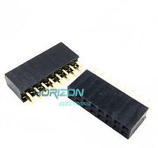 10Pcs 2X8 Pin 16P 2.54mm Double Row Female Straight Header Pin Strip