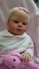 New reborn baby girl doll Ophelia by Reva Schick toddler