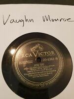 """78 RPM 10"""" Record Vaughn Monroe YOU DO/KOKOMO INDIANA RCA Victor 20-2361"""