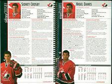 2005 Canadian National Junior Team Hockey Media Guide, Sidney Crosby
