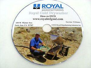 Royal, HOW-TO DVD ROYAL GOLD DRYWASHER