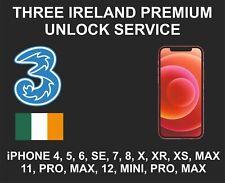Three Ireland Premium Unlock Service, fits iPhone 6, 7, 8, X XR, XS, 11, 12, Pro