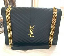 Authentic YSL Large Envelope Black Shoulder Bag