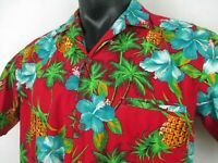Royal Creations Aloha Shirt Men's size XL 100% Cotton Made in Hawaii Pocket Tear