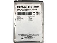 "MDD 1TB 5400RPM 8MB Cache 9.5mm 2.5"" SATA 3.0Gb/s Notebook / Laptop Hard Drive"