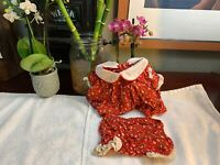 Vintage Made For Cabbage Patch Kids Clothes Doll Cpk Outfit Set Dress+ShortsRARE