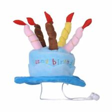1X(Dogs Pet Dog Birthday Caps Hat with Cake Candles Design Birthday Party C3S1)