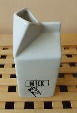 White Ceramic Milk Carton Jug 400ml
