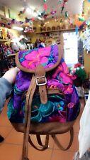 Handmade Embroidered Guatemalan Mini Backpack Blue!!