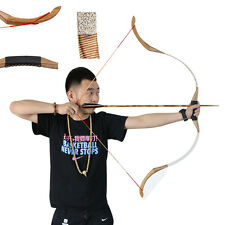 30lbs Archery Traditional Recurve Bow Hunting Both Hand Outdoor Shooting Longbow