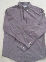 NWOT CROFT & BARROW men's long sleeve collar shirt Size Large