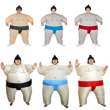2018 Self Inflating Sumo Wrestler Suit Inflatable Dress Outfit Stag Hen Costume