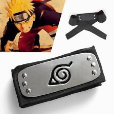 2X Naruto Headband Cosplay Costume Kakashi Leaf Village Konoha Akatsuki Metal AU