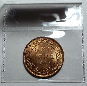 Georgous Large cent Victoria Canada 1902 Unc.