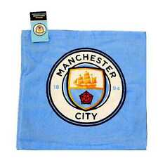 MANCHESTER CITY FOOTBALL CLUB CREST FACE CLOTH FLANNEL 100% COTTON
