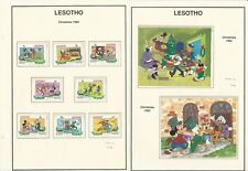 Lesotho Stamp Collection on 4 Pages, Mint NH Disney, 1982-86