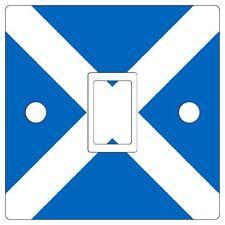 Vinilo pegatina de interruptor de luz de Bandera Escocesa Cubierta De Piel [solo con agujeros]