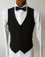 TRADITIONAL MENS WAISTCOAT WITH STRETCHY ELASTICATED BACK. SELF-ADJUSTS 1 SIZE