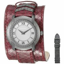 Versace VAM070016 Women's DV-25 Burgundy Quartz Watch